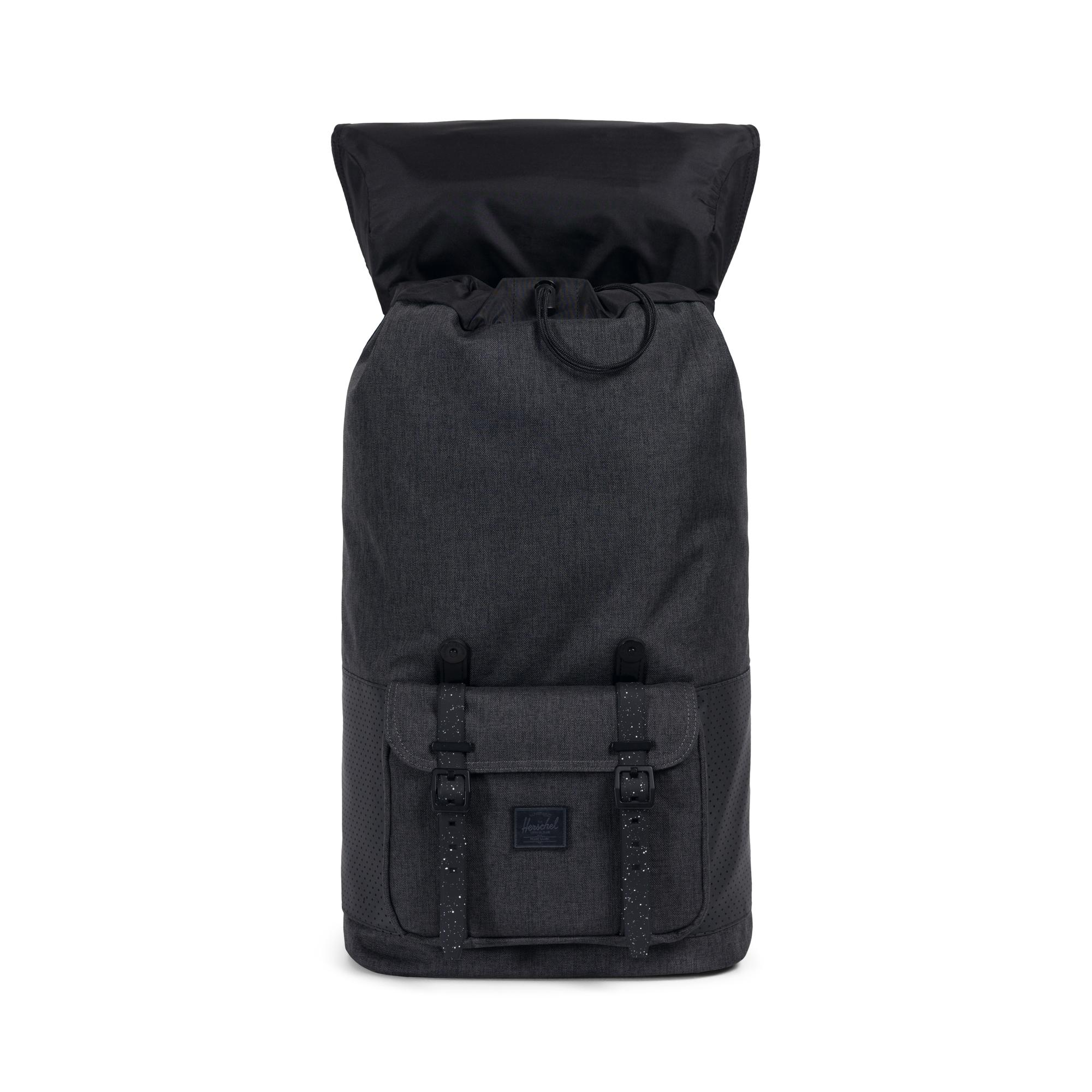 """Multi-zippers 19/"""" Brand new laptop backpack dark grey chequer"""